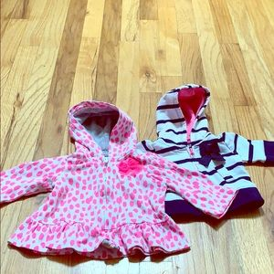 Carter 6mo and Cherokee (nb) hooded cotton jackets